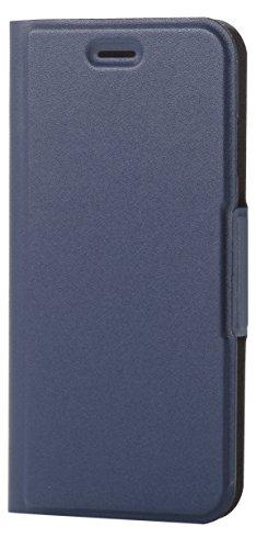 エレコム iPhone8/ソフトレザーカバー 薄型 磁石付 ネイビー PM-A17MPLFUNV 1個 ELECOM