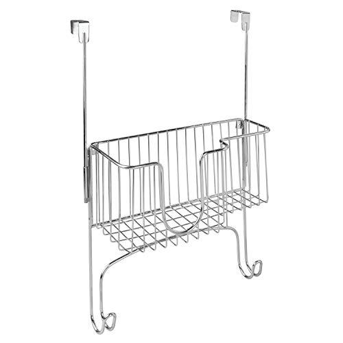 iDesign Basic Ophangkast voor strijkijzer en -plank, zilver, metaal