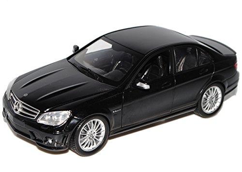 Mercedes W204 C-Klasse C63AMG schwarz Modellauto NewRay 1:24