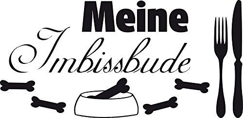 GRAZDesign Wanddekoration Hunde Sprüche Hundesalon - Wandposter Wandsticker Geschenke Meine Imbissbude - Wandtattoo Futterplatz Hund / 62x30cm / 640100_30_070