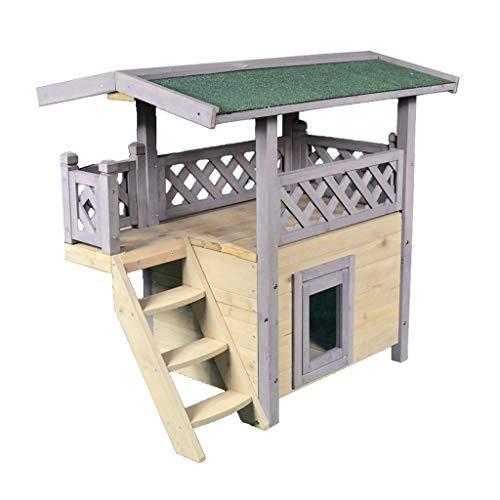 Caseta chalet con terraza para perros