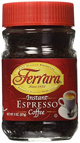 Ferrara Instant Espresso Coffee 2 OZ (Pack of 6)