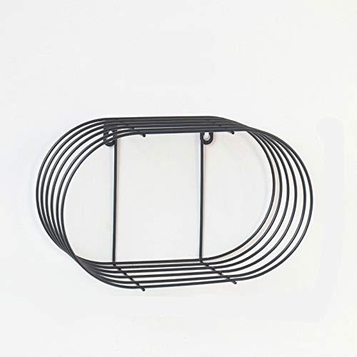Zuimeng Creative-Ausstellungsstand Ausstellungsstand Dekorative Lagerung RackCreative Start Schlafzimmer Wand ohne Nägel Lsuxianfesdngd (Color : Black)