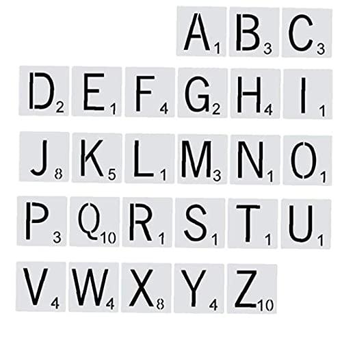 Pintura modelo de escalera modelo 26 alfabeto, pintura modelo álbumes, accesorios para Diy Art Scrapbook 10 x 10 cm