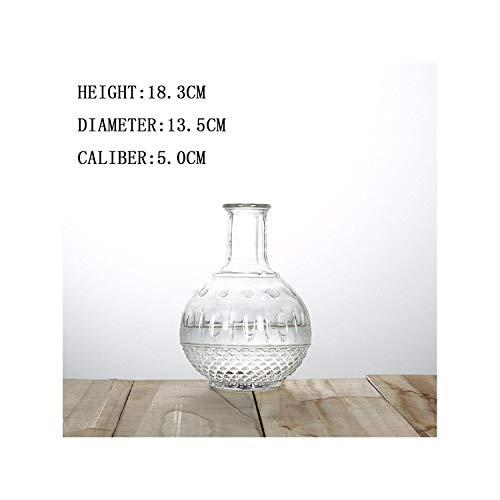 Lou Chapman Stile Nordico terrario pianta idroponica Vases Fiori d'Epoca Pot Trasparente vasi di Vetro da Tavolo pianta Decorazione Domestica, Nuova Terra