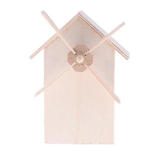 IPOTCH Holzspielzeug Windmühle Spardose aus Holz Schatzkiste Schatztruhe Sparkasse Sparschwein Sparbox