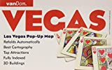 Las Vegas Pop-Up Map by VanDam –– Laminated pocket-size city center pop-up map to Las Vegas, NV complete with all attractions, sights, museums, ... County, Lake Mead & Red Rock Canyon Map