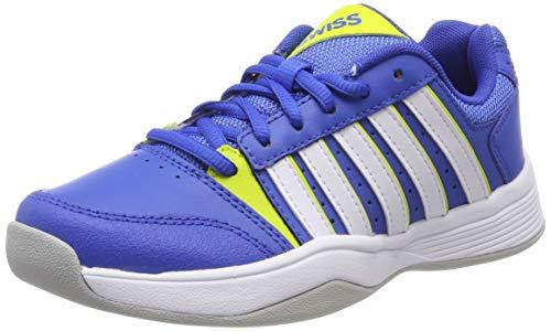 K-Swiss Performance Jungen Court Smash Carpet M Tennisschuhe, Blau (Strngblu/Nenctrn/Wt, 3 000070589), 35.5 EU
