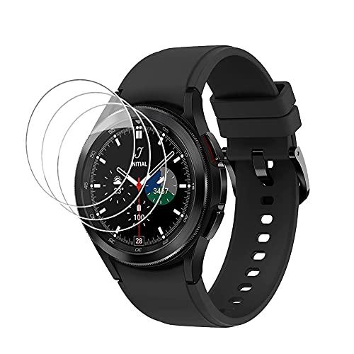 [3 pezzi] Pellicola Protettiva Compatibile con Samsung Galaxy Watch 4 Classic 42MM Vetro Temperato, HD TPU Trasparente [Anti-bolla] Protezione Completa Vetro per Samsung Galaxy Watch4 Classic 42MM
