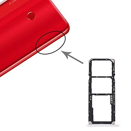 DOMINIC La Bandeja de Tarjeta SD Bandeja de Tarjeta SIM Bandeja de Tarjeta SIM + + Micro for Huawei Disfrute MAX Bandeja (Color : Silver)