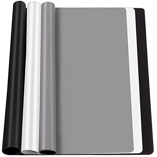 FANDAMEI 3 STK. Silikonmatte 30 * 40 cm, Silikon Unterlage Antihafte rutschfeste Tischmatte Silikonfolie Arbeitsmatte Thekenmatte Bastelmatte, für Handwerk, DIY Zubehöre