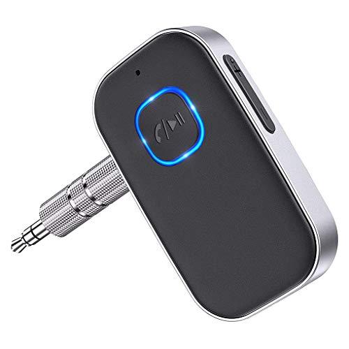Guangcailun Bluetooth 5.0 o adaptador de la radio de coche de entrada AUX receptor inalámbrico de manos libres de llamadas receptor de la música