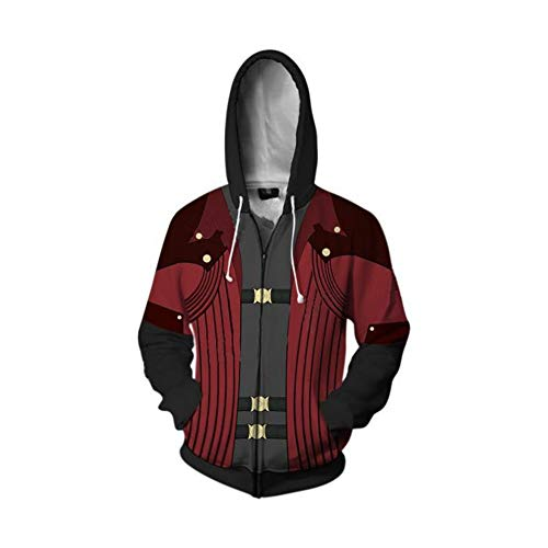 Devil May Cry Costume Dante Cosplay 3D Printed Hooded Jakcet (XX-Large, Color 1)