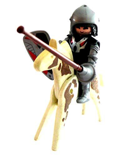 Playmobil ® Ritter mit Fahne, Schild und Apfelschimmel Turnier Spieß