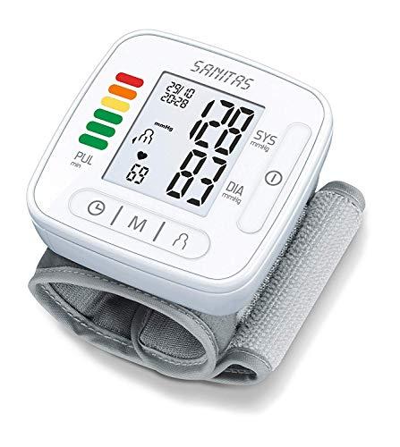 Sanitas SBC 22 Handgelenk-Blutdruckmessgerät (vollautomatische Blutdruck- und Pulsmessung, Warnfunktion bei möglichen Herzrhythmusstörungen)