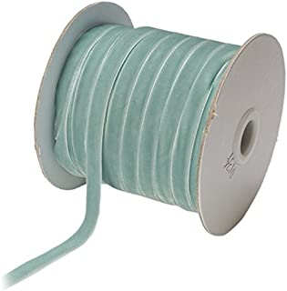 May Arts 3/8-Inch Wide Ribbon, Light Blue Velvet