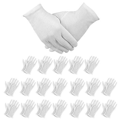 JJ PRIME - Calcetines y guantes hidratantes de algodón blanco transpirable alivio de la piel agrietada seca y alivia el dolor artrítico