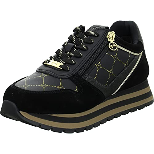 Tamaris Damen 1-1-23706-27 Sneakers, Black/Gold, 40 EU
