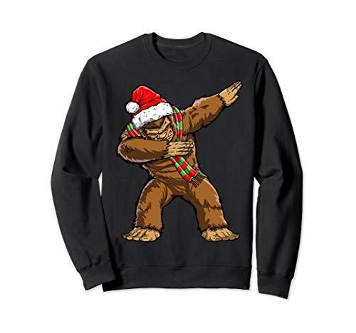 Dabbing Bigfoot Santa Christmas Men Women Dab Xmas Sasquatch Sweatshirt
