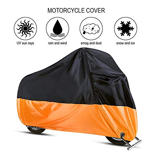 WWWL Motorcycle cover Waterproof Motorcycle Cover Protect Rain Dust UV Motocycle Case 190T Outdoor Motorbike Protector Elastic Hem S/M/L/XL/2XL 2XL