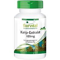Alga Kelp 100mg - 150mcg de Yodo natural - VEGANA - 250 Comprimidos - Calidad Alemana