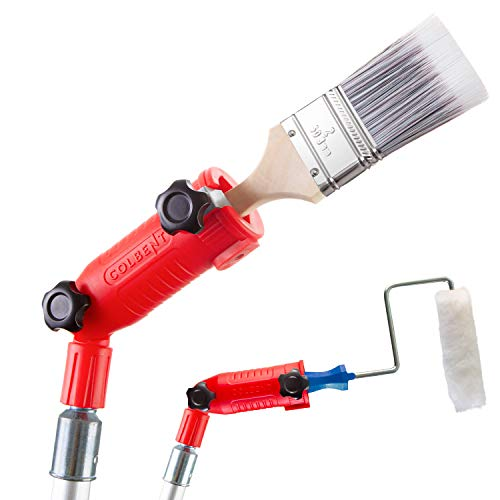 COLBENT Multi-Angle Paint Brush Extender, Paint Edger Tool for High Ceilings | Paint Brush Extension Handle, Corner Painting Tool, Extension Pole Attachments, Long Paint Brush Tool for Painting Pole
