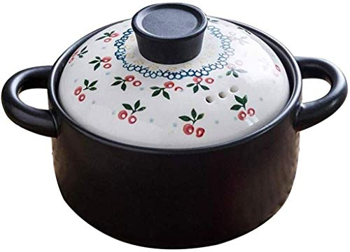 Casserole Hogar Cerámica Cera de cocina Sopa Pot Stef Stew Pot Boot Temperature Resistencia