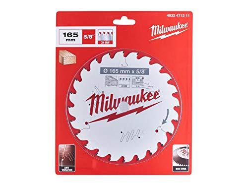 Milwaukee 4932471311 - Hoja de sierra circular (165 mm x 15,87 x 24 mm)