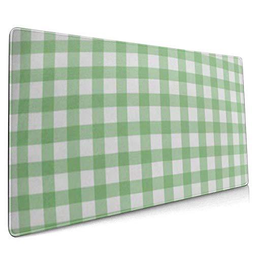 Mauspad, erweitertes Gaming-Mousepad , verlängerte rutschfeste Mauspads, geeignet für Gamer, Büros, Arbeitszimmer usw. Tartan Gingham in Grün Zusammenfassung Buffalo Casual Check Checkered