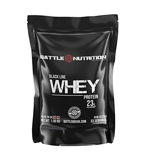 Battle Nutrition Black Line Premium Whey Protein - EU/UK Grade Whey - 5.5g BCAA per Serving* (Milk Chocolate, 30G)