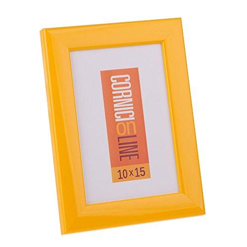 Cornice in legno 108 Giallo Lucido Portafoto da Tavolo 15X20