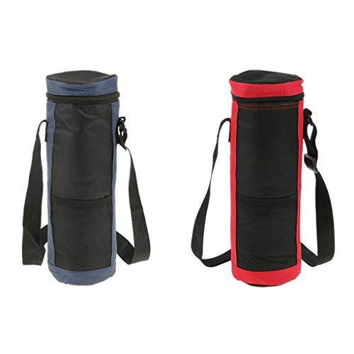 MagiDeal 2pcs Sac Isotherme pour Bouteilles Sac pour Glaçons Sac en Tissu Oxford pour Maison/Bureau/Camping/Voyage
