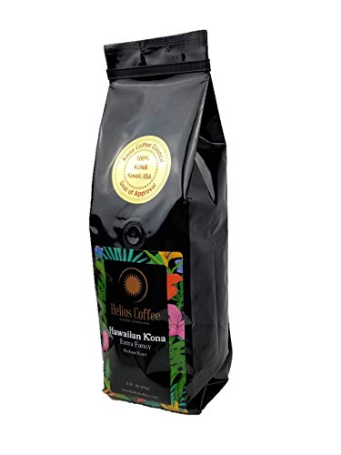 100% Hawaiian Kona Coffee, Extra Fancy - Whole Bean - 1lb.
