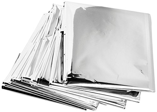 Science Purchase 73MYLARPK20 Emergency Mylar Thermal Blankets, 54' x 84' (Pack of 20)