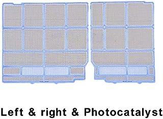 Filtro para aire acondicionado 1 juego de aire acondicionado Filtro Filtro de polvo a prueba de polvo adecuada for Hitachi RAS A27BH A35AX etc., no universal Reemplazar ( Color : Left and right )