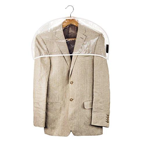 HANGERWORLD 30 Wasserabweisende Schulterabdeckung mit weißem Saum Transparente Schultercover