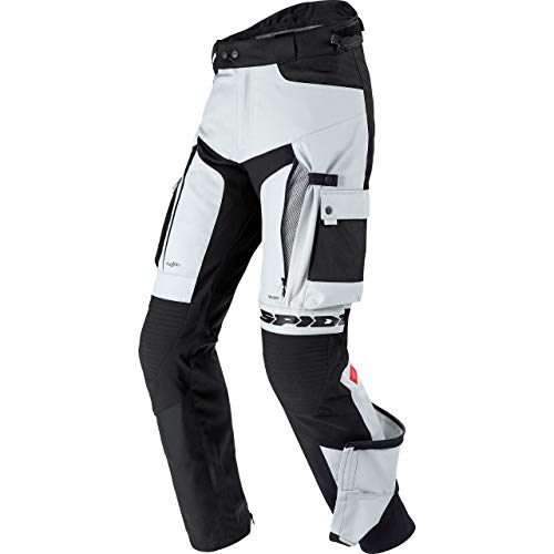 Spidi H2Out Allroad Motorrad Textilhose Schwarz/Grau L