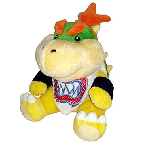 New Super Mario Koopa Bowser Dragon Plush Doll Brothers Bowser JR Soft Plush Toys Gift for Kids Boy Girl 18cm (Dragon)