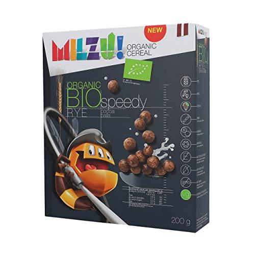 MILZU! BIO CEREAL COCOA BALLS SEEDY 200G (PACK OF 8)