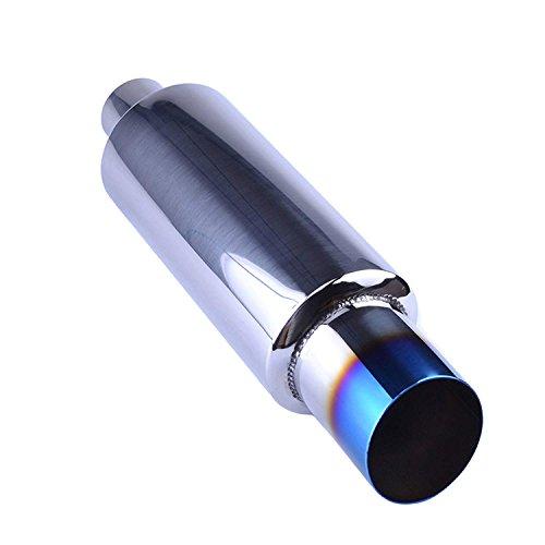 EVIL ENERGY 2' Inlet 3' Outlet Exhaust Tip N1 Burnt Muffler Universal 14.8' Length