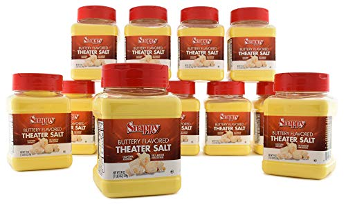Find Discount Snappy Buttery Flavored Theater Popcorn Salt, 19 Ounce, 12 Count