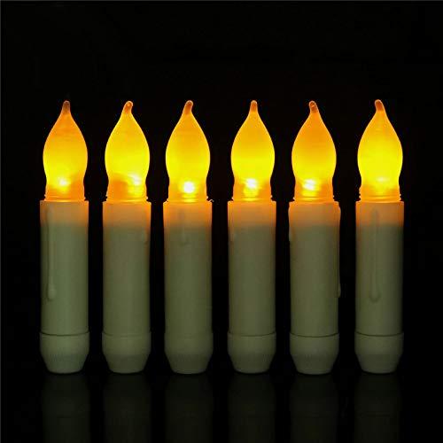 Chanety,taza de agua aislada,taza de agua Paquete de 4 velas cónicas sin fisuras al aire libre, 16,5 cm Luces LED ámbar Velas de la batería de plástico, caída de cera sumergió la luz parpadeante taza