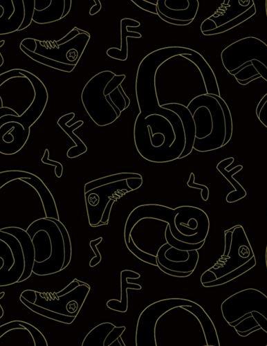 Cahier de musique: Tablature pour guitare Cahier de musique | 7 diagrammes d'accords & 7 tablatures pour guitariste amateurs, professeur de musique, mélomane, des gamins, étudiant (21,5 x 28 cm)