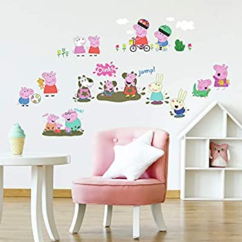 RoomMates RMK3183SCS Peppa The Pig Peel And Stick Wall Decals Multi color