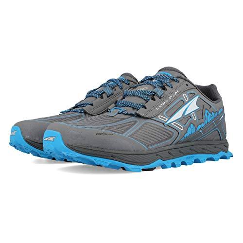ALTRA Men's ALM1855L Lone Peak 4 Low RSM Waterproof Trail Running Shoe, Gray/Blue - 7 M US