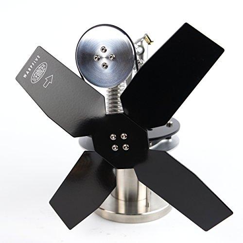 Kleine Ofenventilator, offener Kamin Ventilator (Stirling Motorantrieb) für begrenzten Raum - Warpfive Sidewinder