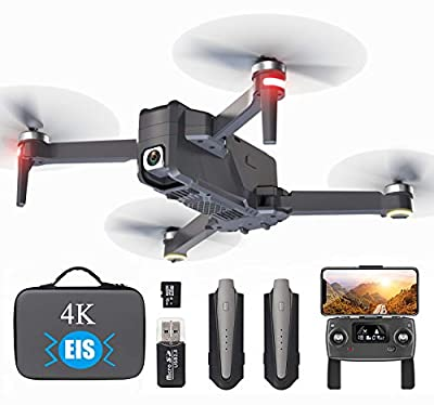 GPS Drone with 4K EIS UHD Camera for Adults Beginner, 5G WIFI FPV Transmission with Brushless Motor,46mins Flight Time,1000m Control,Foldable Quadcopter Gimbal Professional Drone,Auto Return, Follow Me