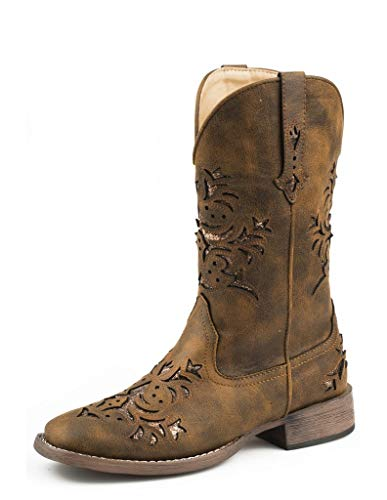 ROPER Women's Western Fashion Boot, Congnac Faux, 7