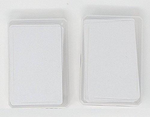 the lazy panda card company Spielkarten Blanko 2 x 60 Blanko Spielkarten mit abgerundeten Ecken zum kreativen selber gestalten.