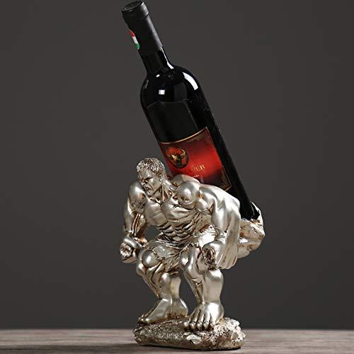 YHX Decoraciones Creativas Retro Americanas para gabinetes de Vino, Accesorios para el hogar, Estante para vinos Hércules, pequeños gabinetes para Muebles